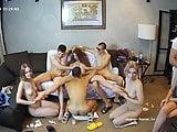 Hot Russian teens made a crazy group sexon webcam