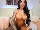 Hot Tattood Latina Show Of Her Big Assests