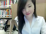 Jessie125: Library cumshow while she covers her mouth