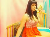 Depraved Ukrainian model SheilaSky playing with banana
