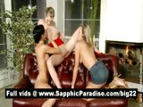 Adorable brunette and blonde lesbos licking and fingering