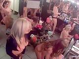 Strip club dressing room voyeur