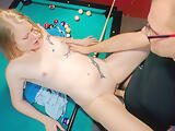 AMATEUR EURO - Big Booty Blondie Bangs On The Pool Table With Her New Guy
