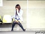 Naked nipponese cutie Yuzuki Hatano is touching her wet cuch