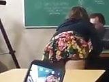 School upskirt teasing