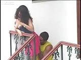 Casal transando na varanda de casa