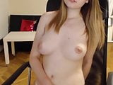 Hot Webcam Teen slaps her ass and shows her tits