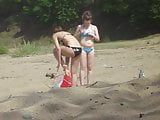 Girls on beach 21