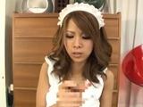 Glorious Ema Kisaki deepthroats a big fuck stick