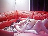 Spy cam in young couple having sex in living room