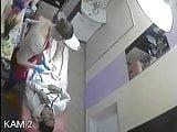 Hidden video cameras. Beauty salon, standing dick depilation