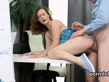 Fervid college girl was tempted and poked by older te08SVs