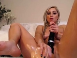 Solo babe toys her ass and pussy and loves it hard