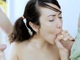 Dazzling brunette maiden Ada gets rammed
