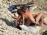 Teenage slut got fucked on a beach