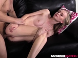 Nubile babe bends for anal and creampie